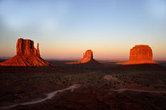 Monument Valley Navajo Indian Tribal Park Panorama Stock Image