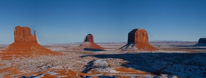 Monument Valley Navajo Indian Tribal Park, Winter. View of some buttes at the Monument Valley Navajo Indian Reservation Tribal Park. Many John Ford western royalty free stock images