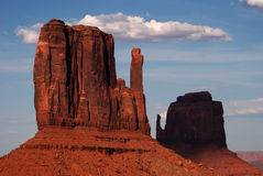 Monument Valley Navajo Nation Tribal Park. Mittens at Monument Valley Navajo Nation Tribal Park at Sunset Stock Images