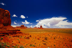 Monument Valley, Navajo Tribal Park, Arizona, USA. Indn Rte 42 in Monument Valley, Navajo Tribal Park, Arizona, USA Stock Photography
