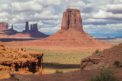 In  the Monument valley Navajo tribal park,Utah, USA. Stock Image