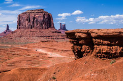 Monument Valley Navajo Tribal Park. View at the Monument Valley Tribal Park Royalty Free Stock Photography