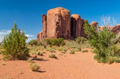 Monument Valley Navajo Tribal Park. View of Monument Valley Tribal Park Royalty Free Stock Photography