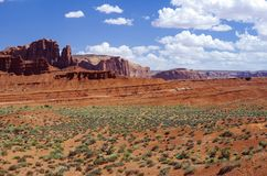 Monument Valley Navajo Tribal Park. View at the Monument Valley Tribal Park Royalty Free Stock Photo