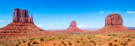 Monument Valley Navajo Tribal Park. View at the Monument Valley Tribal Park Royalty Free Stock Image