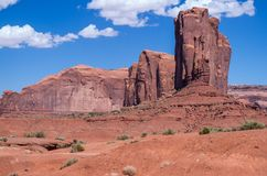 Monument Valley Navajo Tribal Park. View at the Monument Valley Tribal Park Royalty Free Stock Photos
