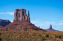 Monument Valley Navajo Tribal Park. View at the Monument Valley Tribal Park Stock Photos