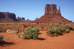 Monument Valley NP, Arizona. View of the Monument Valley NP, Arizona Stock Image
