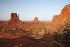 Monument Valley NP, Arizona. View of the Monument Valley NP, Arizona Stock Photos