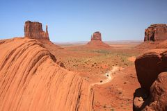 Monument Valley NP, Utah. View of the Monument Valley panorama Stock Images