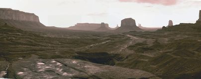 Monument Valley pano Stock Photo