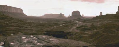 Monument Valley pano stock photo