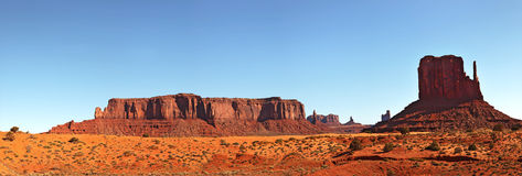 Monument Valley pano Stock Image