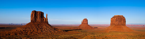 Monument valley panorama. An high resolution panorama of the famous monument valley, Utah, USA Stock Photos