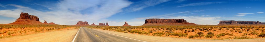 Monument Valley Panorama Royalty Free Stock Images