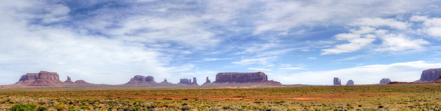 Monument Valley Panorama Stock Photo