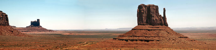 Monument Valley Panorama. Taken from the visitors centre Stock Images