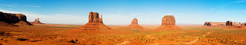 Monument Valley Panorama Stock Images