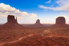 Monument Valley panorama, Arizona USA Royalty Free Stock Photography