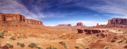 Monument Valley panorama Royalty Free Stock Photos