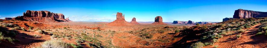 Monument Valley. Panorama of Momunent Valley, Arizona, USA Royalty Free Stock Photos