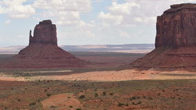 Monument Valley Panorama. From the Navajo Nation Tribal Park, on the Arizona-Utah border, USA stock footage