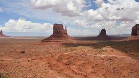 Monument Valley Panorama. From the Navajo Nation Tribal Park, on the Arizona-Utah border, USA stock video