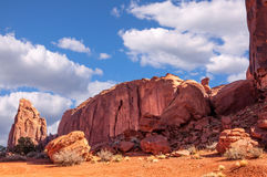 Through Monument Valley Panorama Stock Images