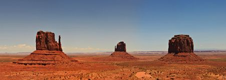 Monument Valley Panorama. One picture from Monument Valley in the USA Royalty Free Stock Images