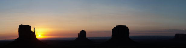 Monument Valley Panorama. A Monument Valley Panorama photo Royalty Free Stock Photography
