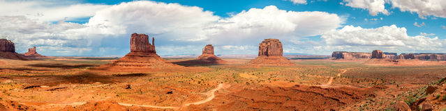 Monument Valley - Panorama View Royalty Free Stock Photography