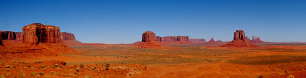 Monument Valley Panoramic Stock Image