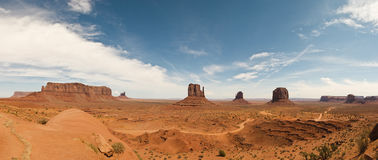 Monument Valley panoramic view Stock Photography