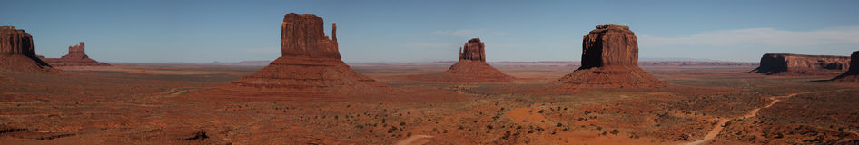 Monument Valley. Panoramic view form vistor center royalty free stock photography