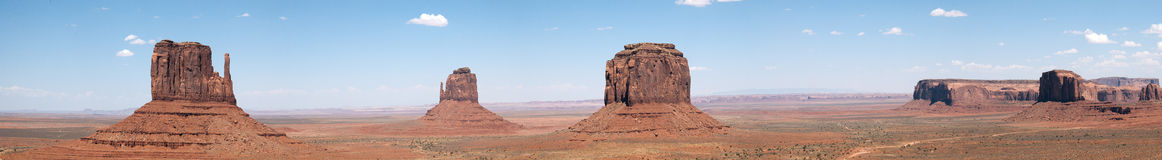 Monument Valley. Panoramic view of Monument Valley, Utah, U.S.A Royalty Free Stock Images