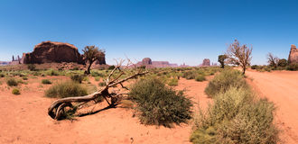 Monument Valley panoramic view , Utah, USA Royalty Free Stock Photo