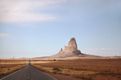 Monument Valley in the red desert Royalty Free Stock Images