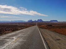 Monument Valley. Road to Monument Valley. This point is Gump Point Forest Gump stopped his running here Royalty Free Stock Photos