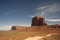 Monument Valley Road. The is a picture of a road through Monument Valley royalty free stock image