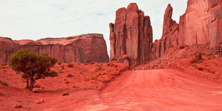 Monument Valley Road Royalty Free Stock Images