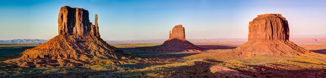 Monument Valley Road in Arizona Panorama stock images