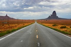 Monument valley road Royalty Free Stock Image