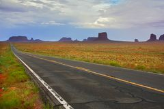 Monument valley road Stock Image
