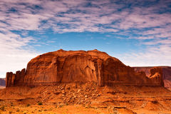 Monument Valley Rock Formations. Rock formations on a cloudy day in Monument Valley Tribal Park, Arizona Royalty Free Stock Photos