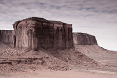 Monument Valley Rock Formations. Rock formations on a cloudy day in Monument Valley Tribal Park, Utah Royalty Free Stock Image