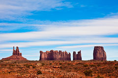 Monument Valley Rock Formations Stock Image