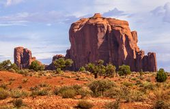 Monument Valley Rock Formations. View of Cly Butte, Monument Valley,  Utah and Arizona Royalty Free Stock Photography
