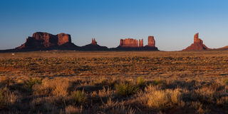 Monument Valley rocks at sunset Stock Photo