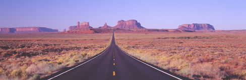 Monument Valley, Route 163 at Dawn, Utah Stock Photo
