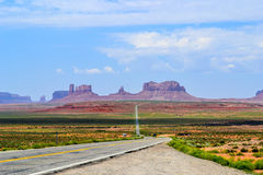Monument valley route 66 Royalty Free Stock Photo